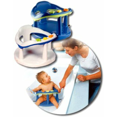 Aquababy Bath Ring by Thermobaby (Blue with Green)