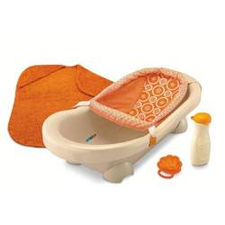 Fisher-Price Dreamsicle Collection Bath Center, Tan/Orange