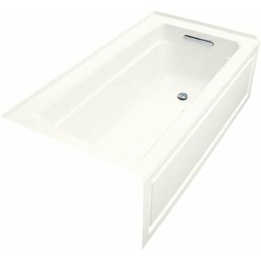 Kohler Archer K-1122-GRA-0 White BubbleMassage 5' Bath Tub