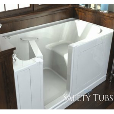 Safety Tubs SH6030L-BC Acrylic Seated Shower Walk-In Tub