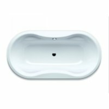 "Kaldewei Mega Duo Oval Bath Tub 70.87"" x 35.43"" x 17.72"" 184-BS"