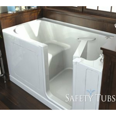 Safety Tubs SH6030R-WH Acrylic Seated Shower Walk-In Tub