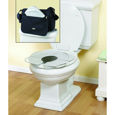 PRIMO Folding Potty with Handles, White granite