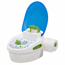Summer 3 Stage Potty Trainer - White/ Blue
