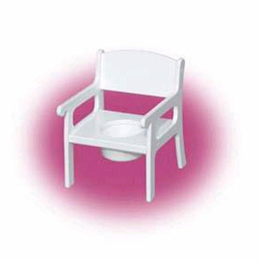 Little Colorado White Wooden Potty Chair
