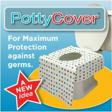 Potty Cover - Disposable toilet seat covers. (6 individually packaged seat covers in each bag.)