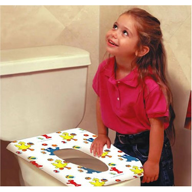 Sesame Street Potty Topper Disposable Stick-in-Place Toilet Seat Covers - 40 Count