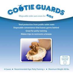 Cootie Guards (4) Pack - Disposable Toilet Seat Covers For Kids