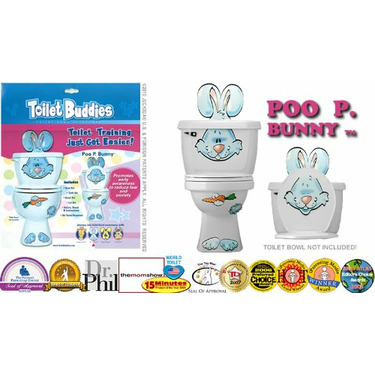 Toilet Buddies Poo P. Bunny Toilet Bowl Attachment