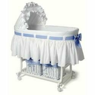 Burlington Baby Bassinet Combo with Baskets, White