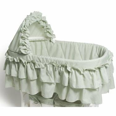 Burlington Baby Gingham Bassinet Liner, Sage