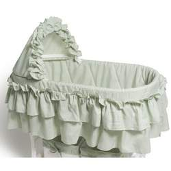 Burlington Baby Gingham Bassinet Liner, Sage
