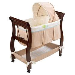 Just One Year Chocolate/Tan Wood Bassinet