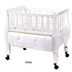 Sleigh Bedside Co-Sleeper Bassinet - White