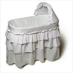 Burlington Baby Bassinet with Full Length Skirt,White