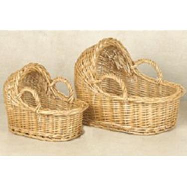 A Decorative Baby Bassinet Baskets Set of 2