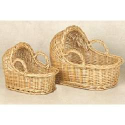 A Decorative Baby Bassinet Baskets Set of 2