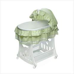 Badger Basket 2-in-1 Portable Bassinet with Toy Box Base - Sage