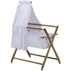 Cariboo Bassinet Veil and Arm in Teak