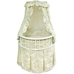 Badger Elegance™ Round Bassinet with Toile Bedding