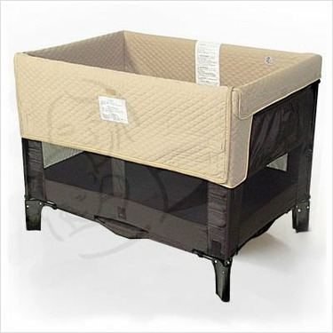 Original Co-Sleeper Bassinet with Short Liner - Black / Toffee Liner
