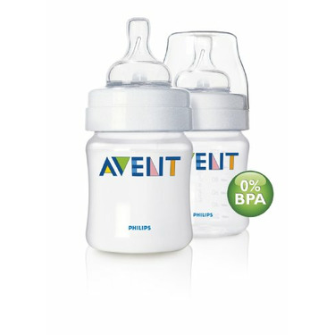 Philips AVENT Polypropylene Bottle, 4 Ounce, Dual Pack