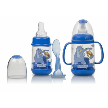 Nuby Nurtur Care Infa Feeder Set, Colors May Vary, 2 4 Ounce