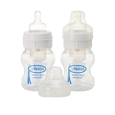 Dr. Brown's Natural Flow 4oz Wide Neck Bottles-2 Pack