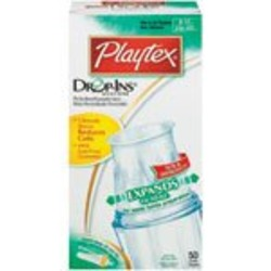 50 Ct Playtex Baby Drop-Ins Liners 8-10 oz