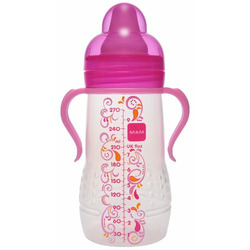 Mam Hold Me Bottle with Handles, 6 Months, 9 Ounce, Colors May Vary
