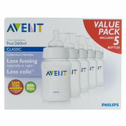 Philips AVENT BPA Free Bottles, 9 Ounce, 5 Pack
