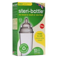 Steribottle Ready to Use Disposable Baby Bottles, 10 Count