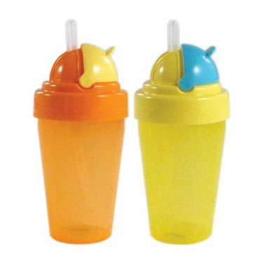 Nurtria BPA Free Flip-Top Straw Cup, Neutral, 2 Pack, 9 Ounce