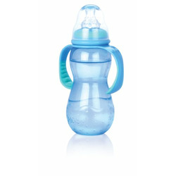 Nuby 3 Stage Bottle, Colors May Vary, 11 Ounce