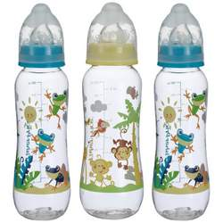 Fisher-Price Rainforest Boxed Bottles, Green/Yellow, 8 Ounce, 3 Pack