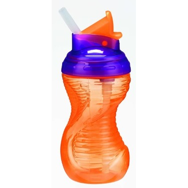 Munchkin Mighty Grip Flip Straw Cup, Colors May Vary, 10 Ounce