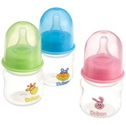 Dubon BPA Free Feeding Bottle with Silicone Nipple, Colors May Vary, 2 Ounce, Preemie