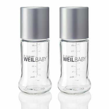 Weil Baby Glass Bottle, Twin Pack, Stage 1, 8 Ounce