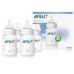 Philips AVENT BPA Free Bottles, 9 Ounce, 4 Pack