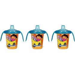 Munchkin Re-Usable Twist Tight Trainer Cup, 3 Pack, Dora the Explorer, 8 Ounce