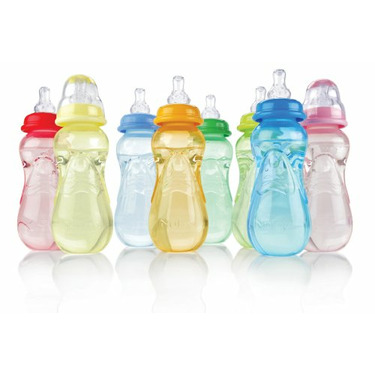 Nuby Bottles, Colors May Vary, 3 Pack , 10 Ounce