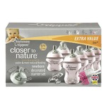 Tommee Tippee Closer to Nature Decorated Bottle Starter Set - Girl