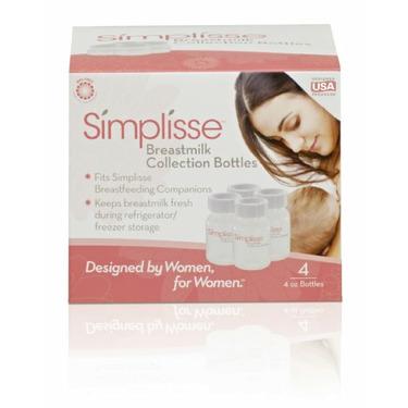 Simplisse Breastmilk Collection Bottles, 4 Pack