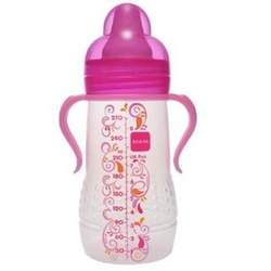 Mam Hold Me Bottle with Handles 6+ Months 9 Ounce girl colors BPA FREE