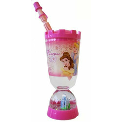 Princess Tumbler With Snow Globe - Disney Princess Sipping Cup With Straw