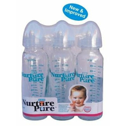Nurture Pure Glass Feeding Bottles 3 pack - 8 ounces each