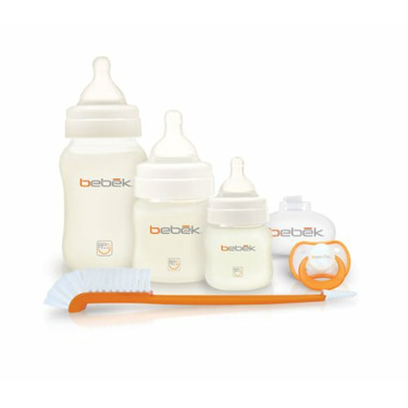 Bebek Starter Gift Set with BPA Free Bottles with Pro Flow Silicone Nipples