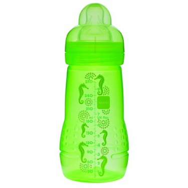 Mam Baby Bottle, Single Pack, 2 Months, 9 Ounce, Colors May Vary