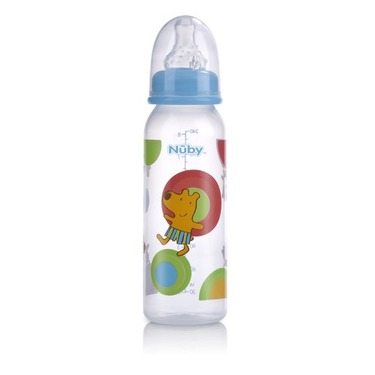 Nuby Leak Proof Bottle, Colors May Vary, 8 Ounce, 2 Pack