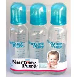 NurturePure - Glass Bottles - 8 oz. 3 Pack